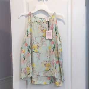 NWT Floral Blouse.